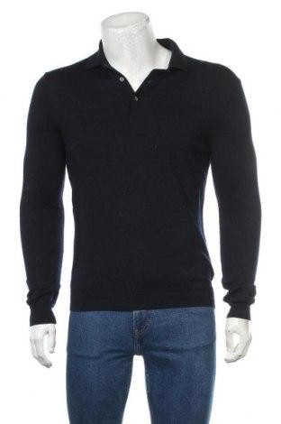 Ανδρικό πουλόβερ H&M, Μέγεθος M, Χρώμα Μπλέ, Μαλλί, Τιμή 18,19€