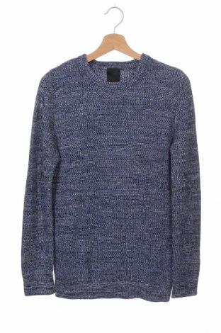 Ανδρικό πουλόβερ H&M, Μέγεθος XS, Χρώμα Μπλέ, 55%ακρυλικό, 45% βαμβάκι, Τιμή 16,24€