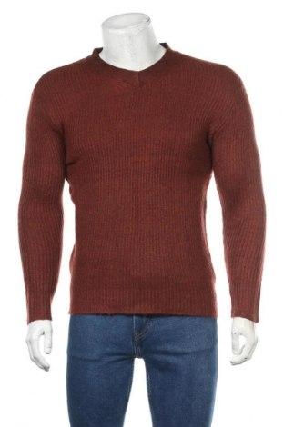 Ανδρικό πουλόβερ H&M, Μέγεθος S, Χρώμα Καφέ, 52% βαμβάκι, 48%ακρυλικό, Τιμή 18,19€