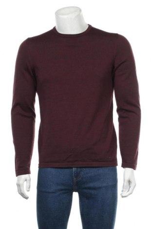 Pulover de bărbați Hugo Boss, Mărime L, Culoare Roșu, Lână, Preț 318,32 Lei