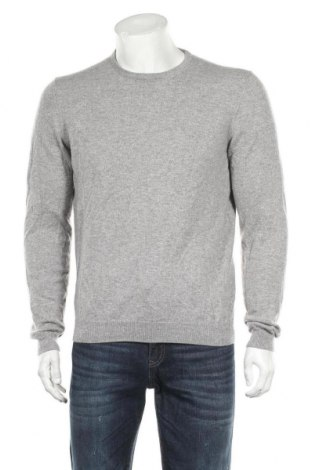 Pulover de bărbați Massimo Dutti, Mărime L, Culoare Gri, 100% cașmir, Preț 95,16 Lei