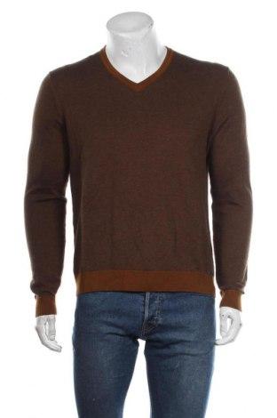 Мъжки пуловер Olymp, Размер L, Цвят Кафяв, 71% памук, 29% вълна, Цена 24,10лв.