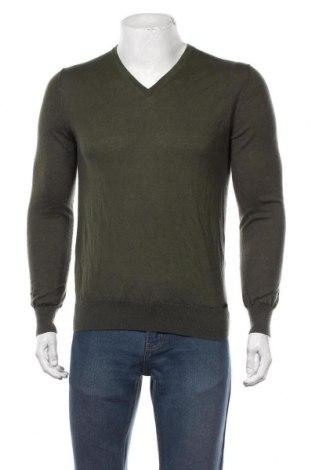 Мъжки пуловер Olymp, Размер M, Цвят Зелен, 85% вълна, 15% коприна, Цена 29,40лв.