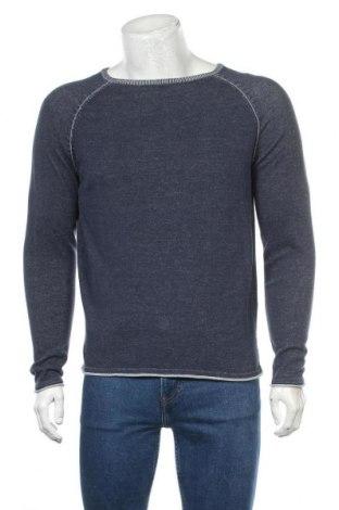 Мъжки пуловер Originals By Jack & Jones, Размер M, Цвят Син, Памук, Цена 28,50лв.