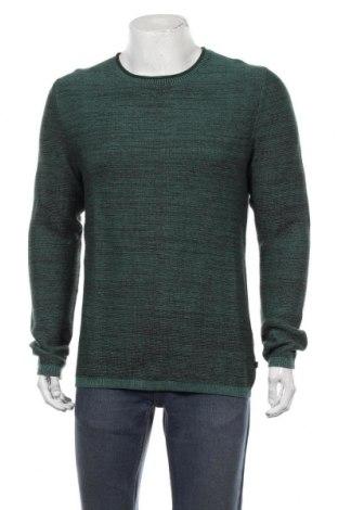 Мъжки пуловер Q/S by S.Oliver, Размер M, Цвят Зелен, Памук, Цена 51,75лв.