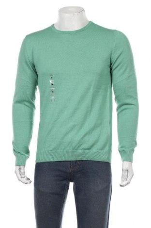 Мъжки пуловер S.Oliver, Размер M, Цвят Зелен, Памук, Цена 40,50лв.