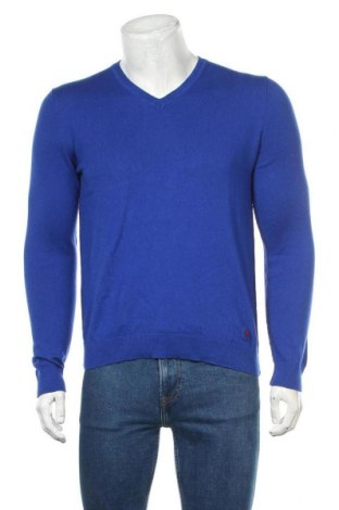 Мъжки пуловер Strellson, Размер M, Цвят Син, 70% памук, 30% вълна, Цена 36,00лв.