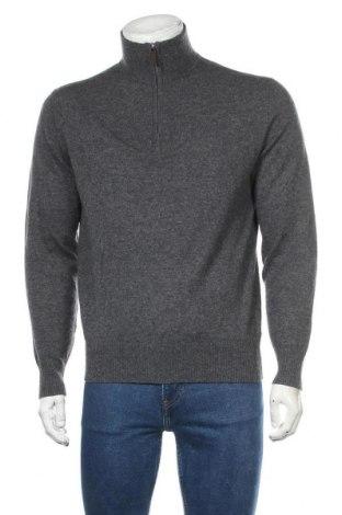 Ανδρικό πουλόβερ Tom Rusborg, Μέγεθος S, Χρώμα Γκρί, 90% μερινό, 10% κασμίρι, Τιμή 11,82€