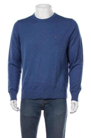 Мъжки пуловер Tommy Hilfiger, Размер L, Цвят Син, Вълна, Цена 84,00лв.