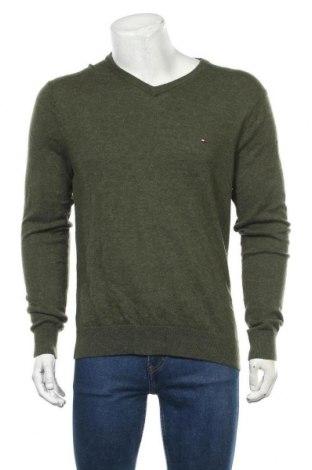 Мъжки пуловер Tommy Hilfiger, Размер L, Цвят Зелен, Вълна, Цена 56,70лв.
