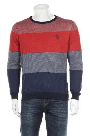 Мъжки пуловер U.S. Polo Assn., Размер M, Цвят Многоцветен, Памук, Цена 49,98лв.
