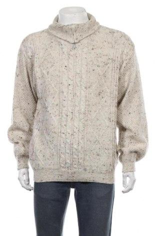 Ανδρικό πουλόβερ Umberto Rosetti, Μέγεθος L, Χρώμα Εκρού, 70% πολυακρυλικό, 30% μαλλί, Τιμή 18,19€