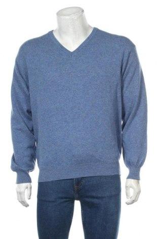 Ανδρικό πουλόβερ United Colors Of Benetton, Μέγεθος L, Χρώμα Μπλέ, Τιμή 18,19€