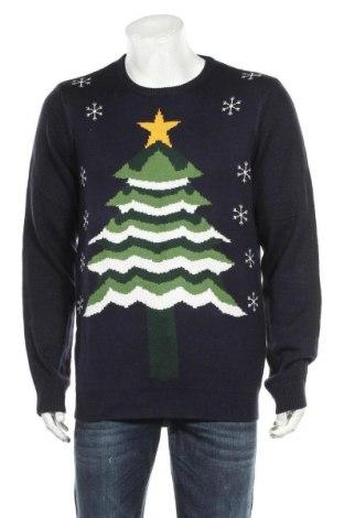Мъжки пуловер Your Turn, Размер L, Цвят Син, Полиакрил, Цена 24,99лв.