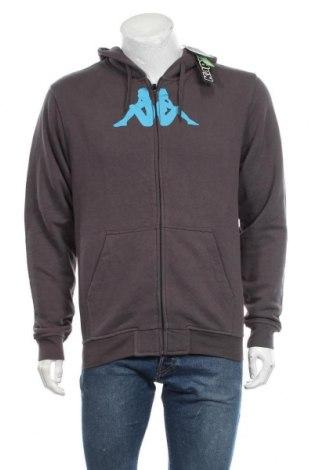 Мъжки суичър Kappa, Размер L, Цвят Сив, 80% памук, 20% полиестер, Цена 54,60лв.