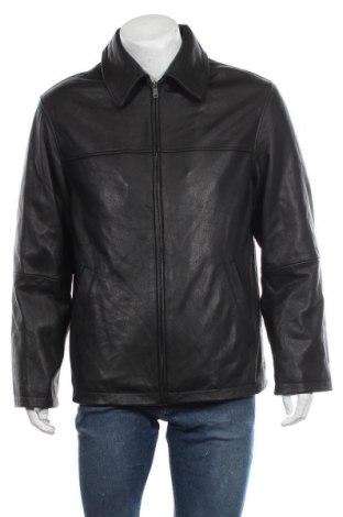 Мъжко кожено яке, Размер L, Цвят Черен, Естествена кожа, Цена 23,36лв.