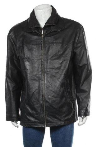 Мъжко кожено яке Angelo Litrico, Размер L, Цвят Черен, Естествена кожа, Цена 83,79лв.