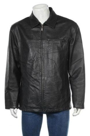 Мъжко кожено яке Angelo Litrico, Размер L, Цвят Черен, Естествена кожа, Цена 28,61лв.