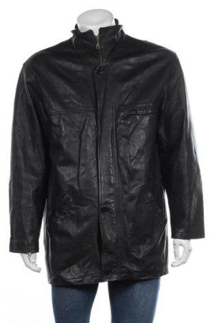 Мъжко кожено яке Rover&lakes, Размер L, Цвят Черен, Естествена кожа, Цена 16,28лв.