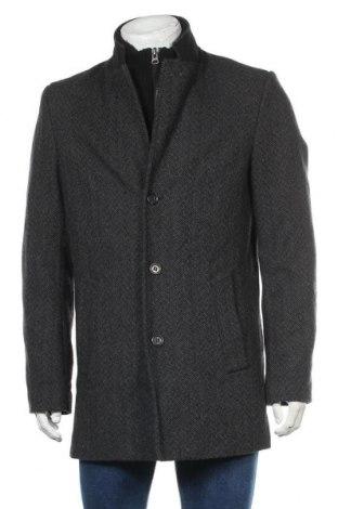 Мъжко палто A.W.Dunmore, Размер M, Цвят Сив, 50% вълна, 50% полиестер, Цена 50,87лв.