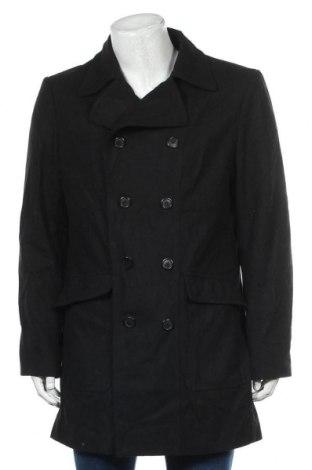 Мъжко палто Angelo Litrico, Размер L, Цвят Черен, 60% вълна, 40% полиестер, Цена 36,96лв.