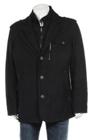 Мъжко палто Angelo Litrico, Размер XL, Цвят Черен, 60% вълна, 37% полиестер, 3% други нишки, Цена 48,51лв.