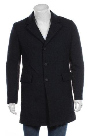 Ανδρικά παλτό Boss Orange, Μέγεθος M, Χρώμα Μπλέ, Μαλλί, πολυεστέρας, πολυαμίδη, Τιμή 266,36€