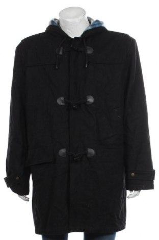 Мъжко палто Euro Tops, Размер XL, Цвят Черен, 50% вълна, 50% полиестер, Цена 65,10лв.