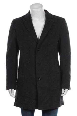Мъжко палто Joop!, Размер M, Цвят Сив, 65% вълна, 30% полиестер, 5% кашмир, Цена 146,48лв.