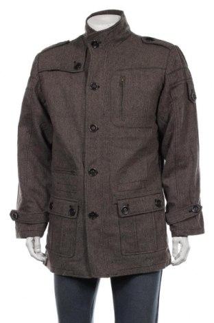 Мъжко палто Lee Cooper, Размер XL, Цвят Кафяв, 80% вълна, 20% полиестер, Цена 54,86лв.