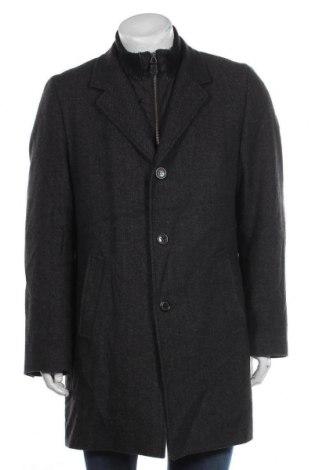 Мъжко палто S.Oliver, Размер L, Цвят Сив, 60% вълна, 30% полиестер, 5% полиамид, 5% силикон, Цена 29,03лв.