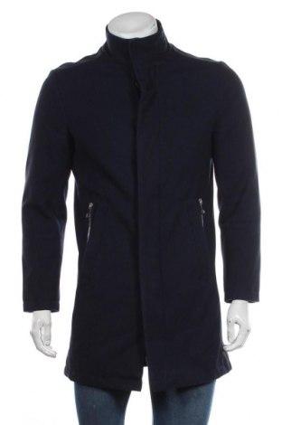 Ανδρικά παλτό Zara Man, Μέγεθος M, Χρώμα Μπλέ, Τιμή 29,88€