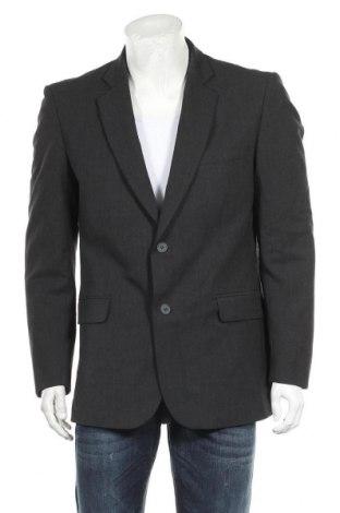 Мъжко сако, Размер L, Цвят Черен, 55% полиестер, 43% вълна, 2% еластан, Цена 7,35лв.