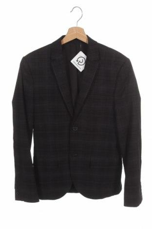 Мъжко сако H&M, Размер S, Цвят Черен, 69% полиестер, 30% вискоза, 1% еластан, Цена 9,14лв.