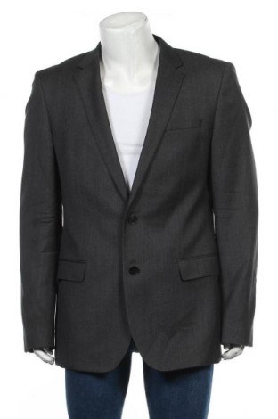 Мъжко сако Hugo Boss, Размер L, Цвят Сив, 100% вълна, Цена 79,50лв.