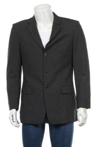 Мъжко сако Hugo Boss, Размер M, Цвят Сив, 98% вълна, 2% еластан, Цена 29,40лв.