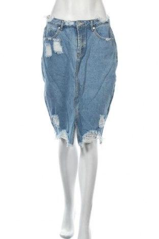 Пола Missguided, Размер M, Цвят Син, 95% памук, 5% полиестер, Цена 31,50лв.