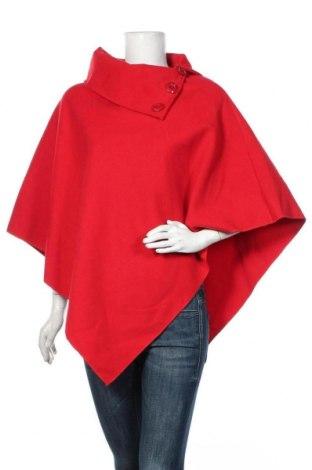 Poncho, Mărime M, Culoare Roșu, 90% poliester, 7% viscoză, 3% elastan, Preț 119,70 Lei