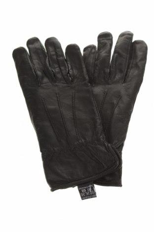Ръкавици Atrium, Цвят Черен, Естествена кожа, Цена 39,90лв.