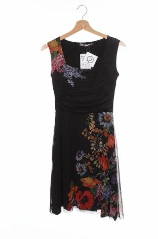 Φόρεμα Desigual, Μέγεθος XS, Χρώμα Μαύρο, 65% πολυεστέρας, 33% βισκόζη, 2% ελαστάνη, Τιμή 46,08€