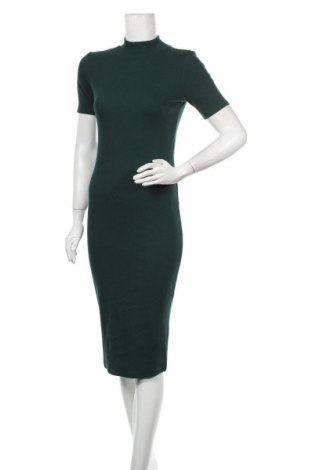 Рокля Zara, Размер M, Цвят Зелен, 95% памук, 5% еластан, Цена 59,25лв.