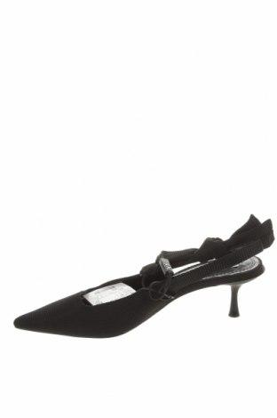 Дамски обувки Zara, Размер 36, Цвят Черен, Текстил, Цена 44,25лв.