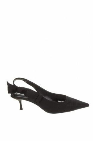 Дамски обувки Zara, Размер 38, Цвят Черен, Текстил, Цена 14,75лв.