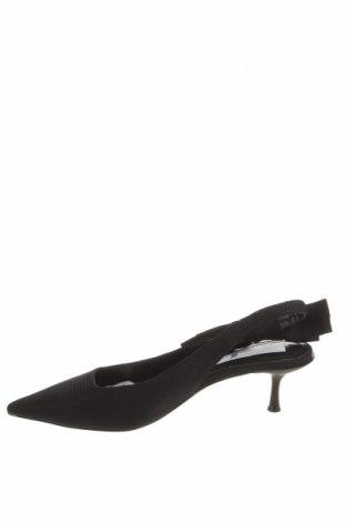 Дамски обувки Zara, Размер 38, Цвят Черен, Текстил, Цена 29,50лв.
