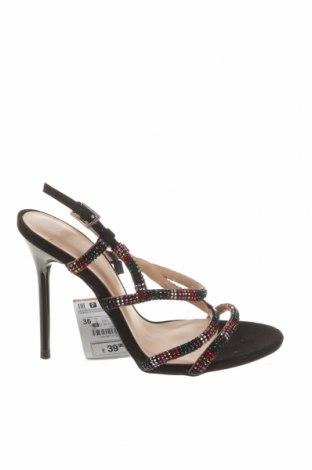 Сандали Zara, Размер 36, Цвят Черен, Текстил, Цена 18,50лв.