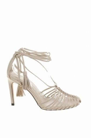 Sandale Zara, Mărime 38, Culoare Bej, Piele ecologică, Preț 131,64 Lei