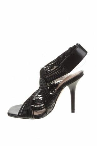 Сандали Zara, Размер 36, Цвят Черен, Еко кожа, Цена 34,50лв.