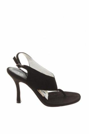 Sandály Zara, Velikost 37, Barva Černá, Přírodní velur , Cena  646,00Kč