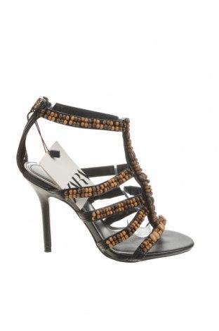 Sandály Zara, Velikost 36, Barva Černá, Eko kůže, Cena  750,00Kč