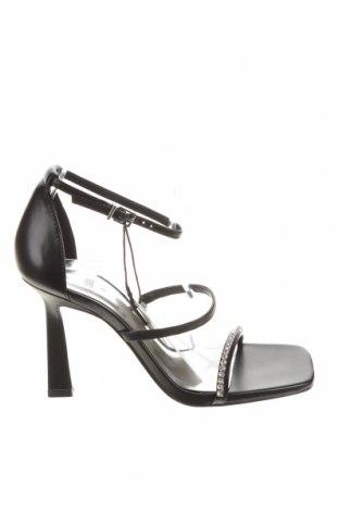 Сандали Zara, Размер 36, Цвят Черен, Еко кожа, Цена 43,50лв.